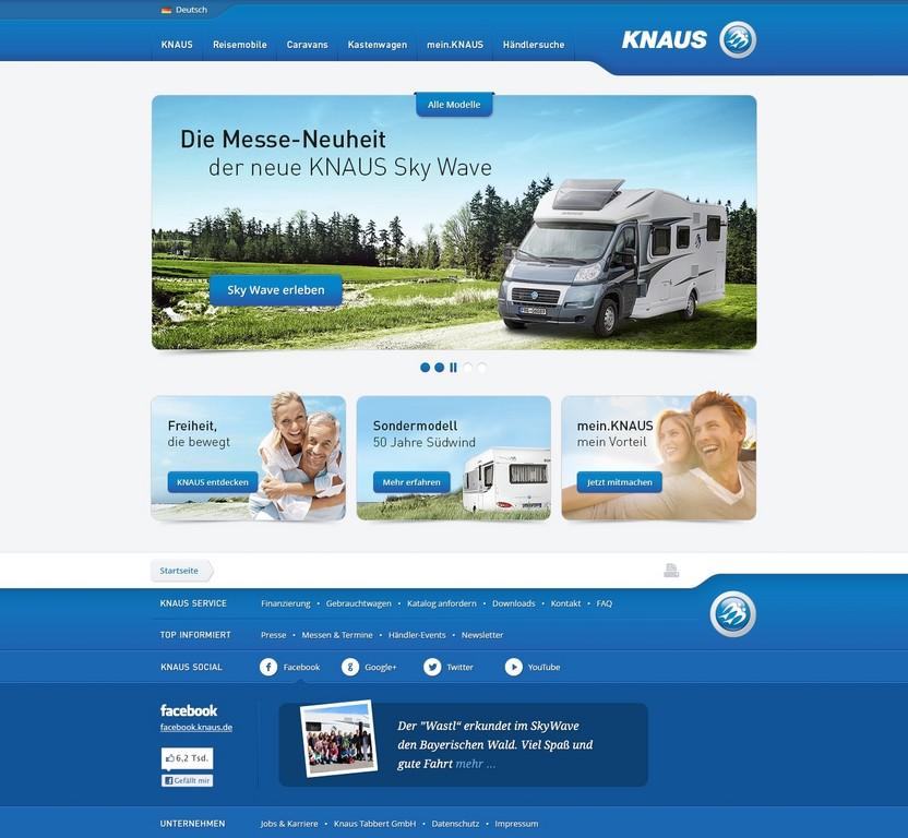 Knaus gestaltet seine Internetseite neu