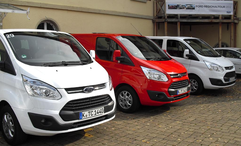 Neben Fords neuen Nutzfahrzeugen standen bei der Regionaltour ...