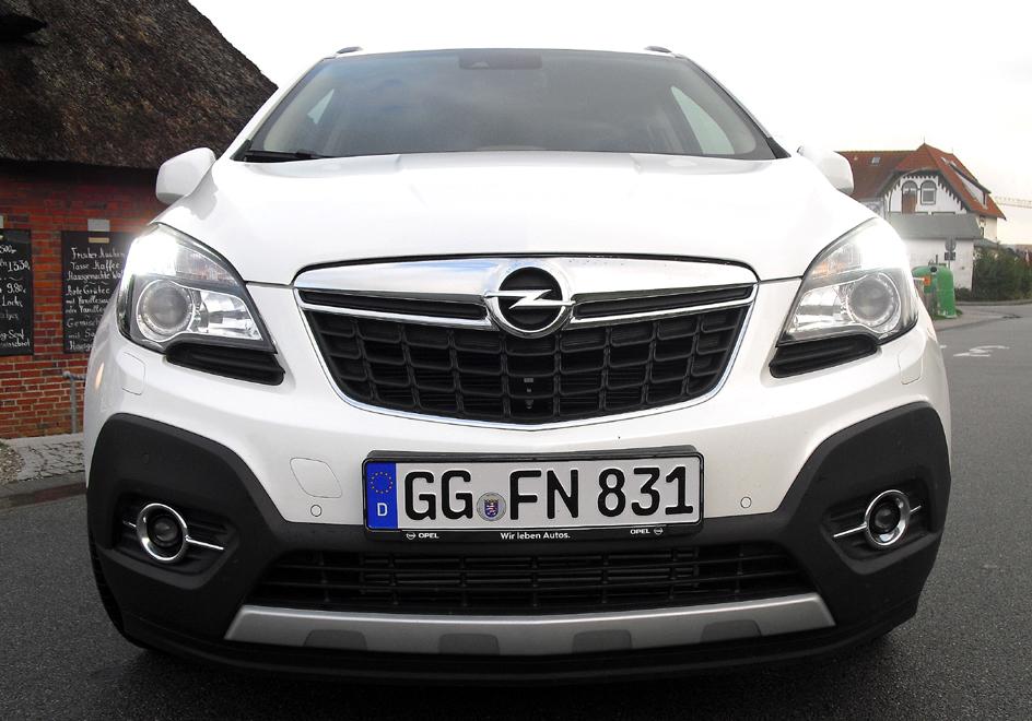 Opel Mokka: Blick auf die bullig wirkende Frontpartie.