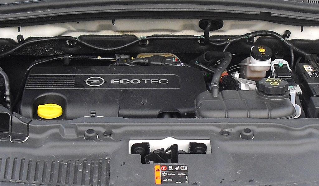 Opel Mokka: Blick unter die Haube. Drei Motorisierungen stehen zur Wahl.