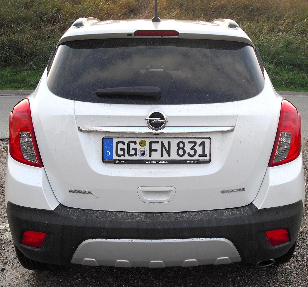 Opel Mokka: Hinter der Heckklappe passen 356 bis 1372 Liter Gepäck ins Stauabteil.