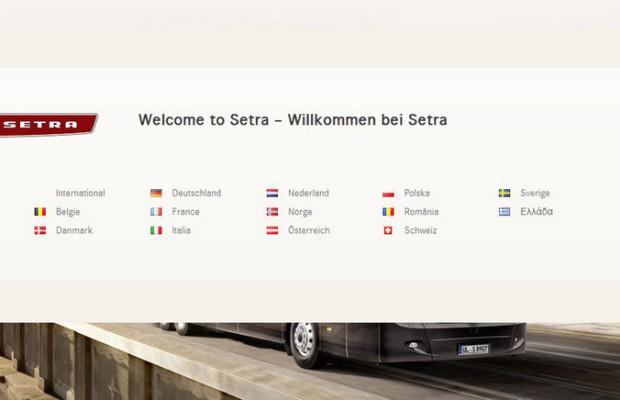 Setra erweitert Internetauftritt