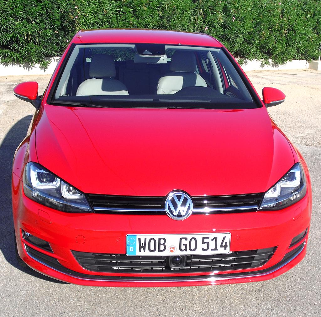 VW Golf: Blick auf die Frontpartie.