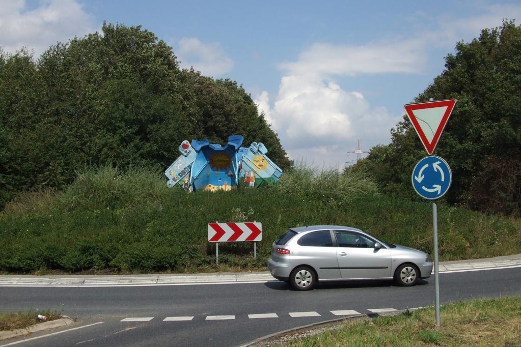Auch im Kreisverkehr gilt zuweilen