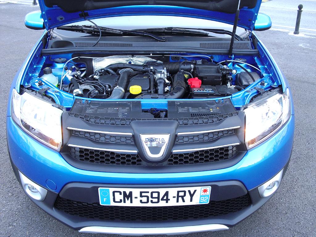 Dacia Sandero Stepway: Blick unter die Haube. Zwei Motorisierungen stehen zur Wahl.