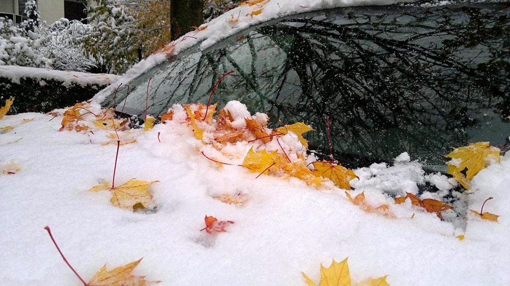 Die ersten Vorboten des Winters waren schon da. Foto: Mobil in Deutschland
