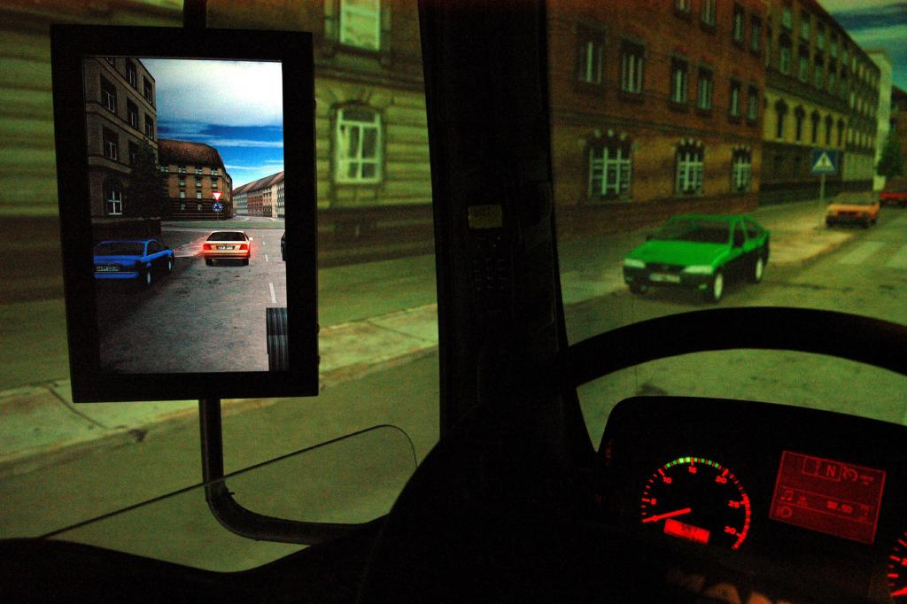 Geübt wird auch im Simulator
