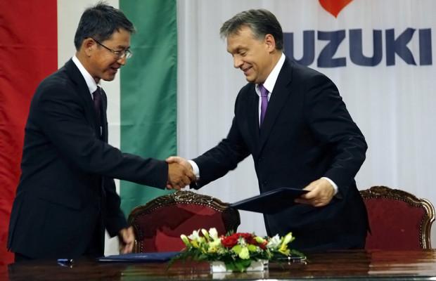 Magyar Suzuki Corporation schließt Partnerschaft mit der ungarischen Regierung
