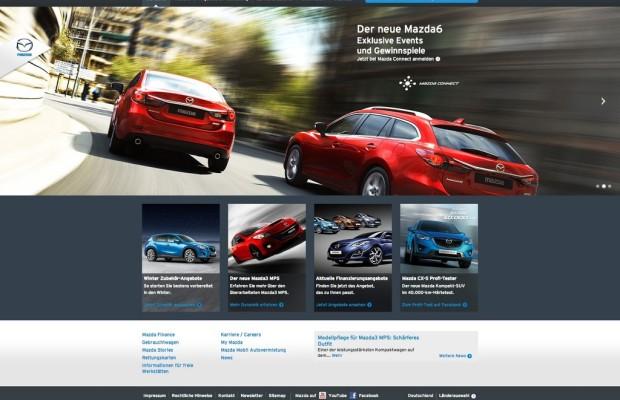 Mazda.de in neuem Design