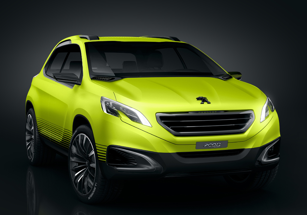 Noch als Studie: Peugeots Kompakt-SUV-Allradler 2008.