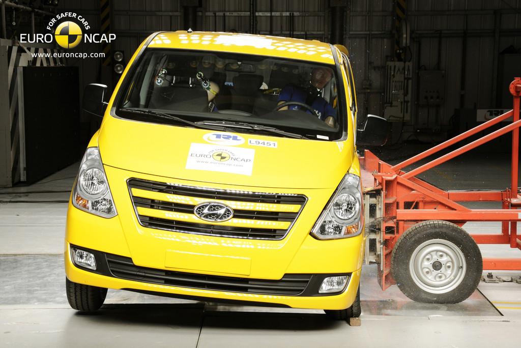 Crashtest: Ford Transit Custom als einziger mit fünf Sternen