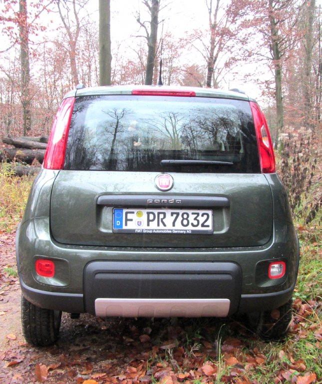 Fiat Panda 4x4: Blick auf die Heckpartie.