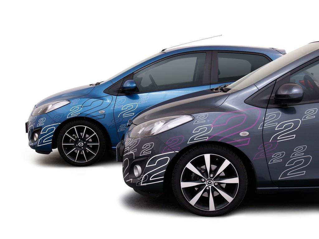 Mazda bietet Foliendesign für den Mazda2