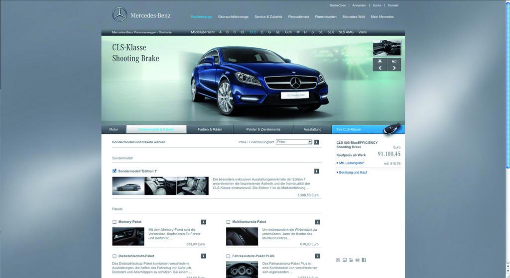 Mercedes-Benz startet neuen Fahrzeugkonfigurator und neue AMG-Webseite
