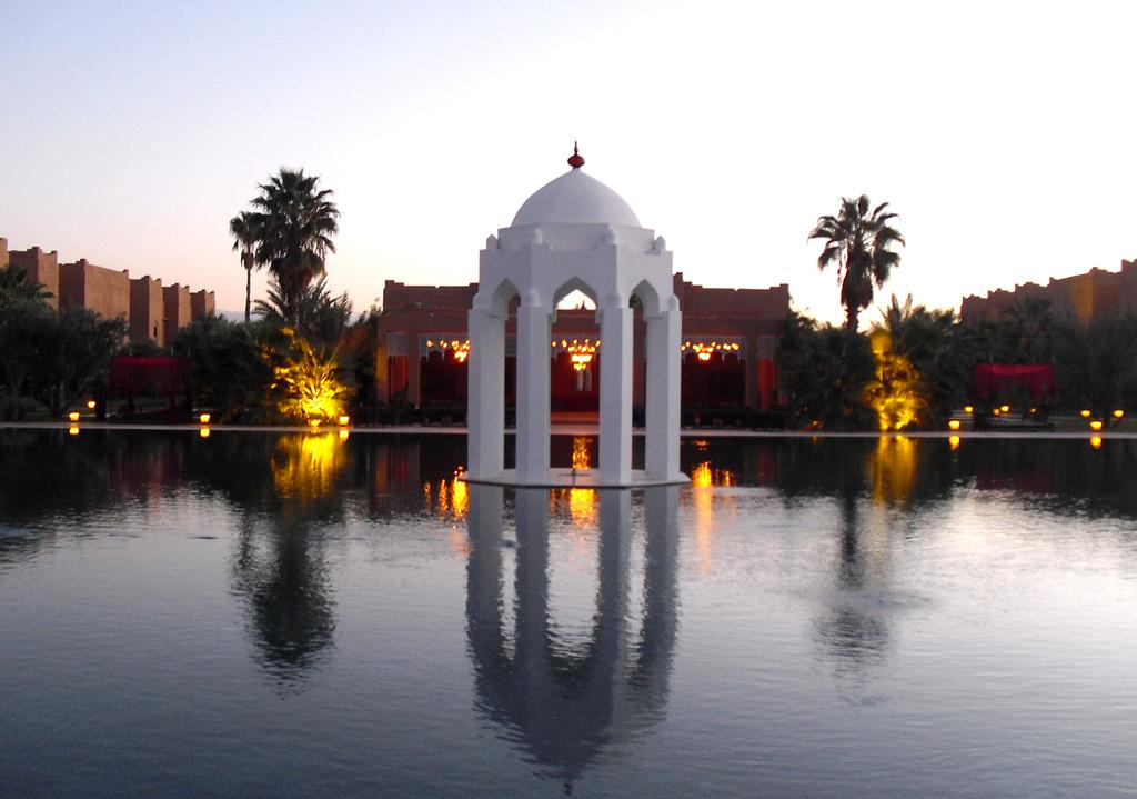 Mit einem Hauch von Indien und Orient: Palasthotel Taj Palace bei Marrakesch.