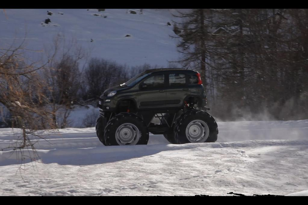 Monstertruck-Version des Fiat Panda 4x4