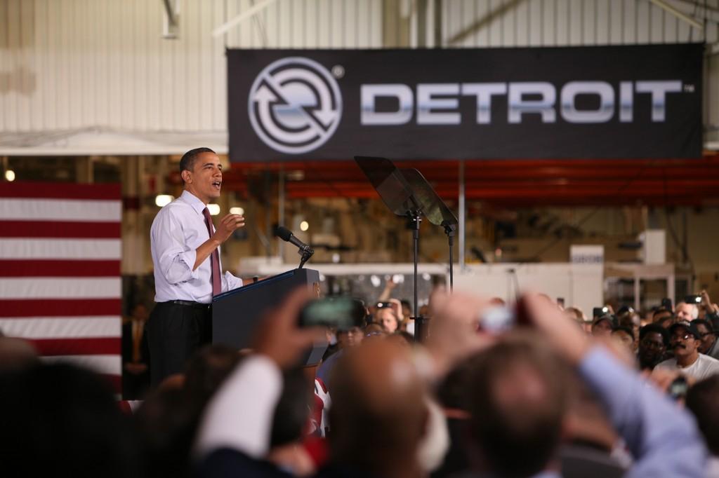 Obama besucht Detroit Diesel