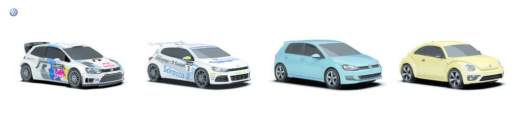 Volkswagen veranstaltet Autorennen auf Facebook