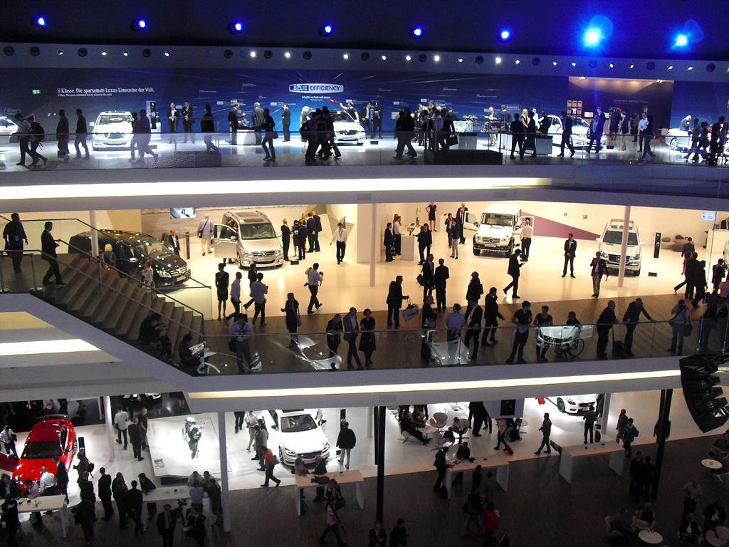 2013 ist wieder ein IAA-Jahr, hier Blick in die (Mercedes-)Festhalle 2011.
