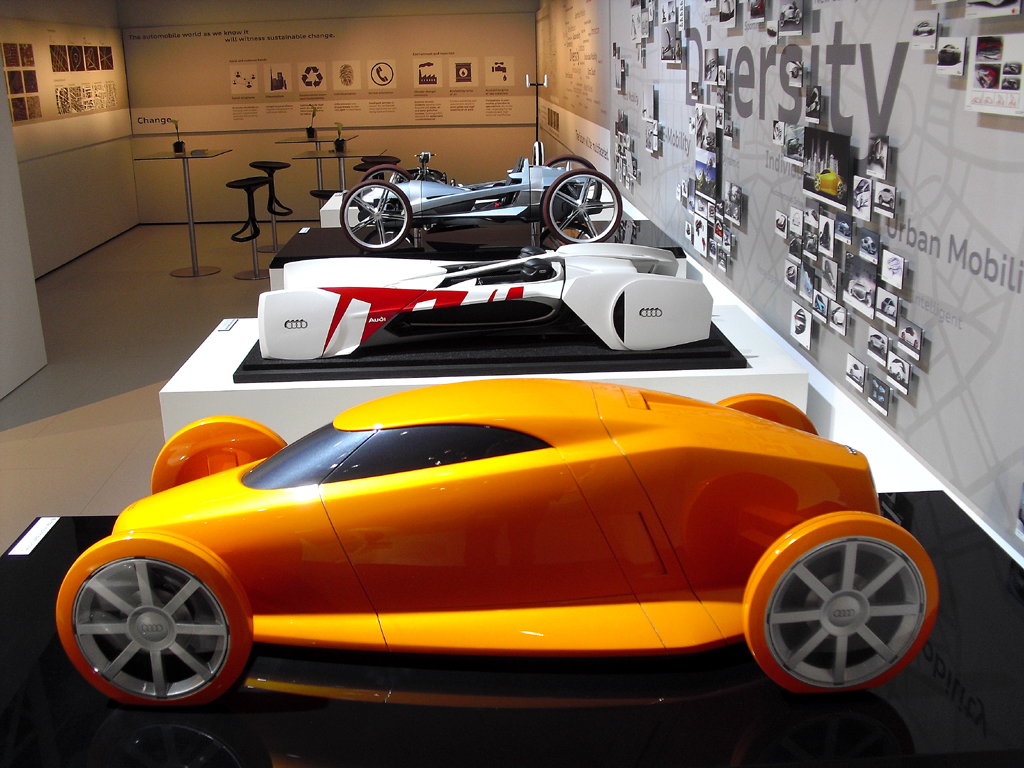 Audis wie diese könnten sich in unseren Zukunftsstädten bewegen.