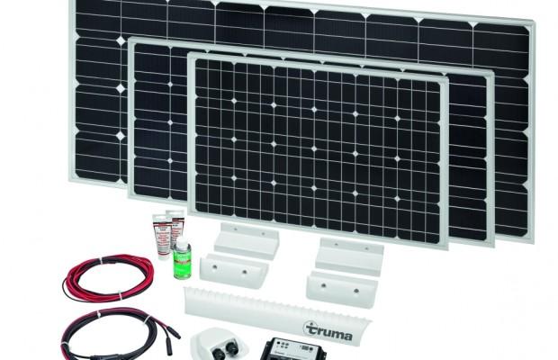 CMT Stuttgart 2013: Truma SolarSet zur Stromversorgung und Saphir comfort RC Staukastenklimaanlage