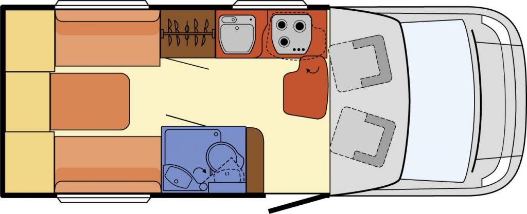 Globebus Plus 12 Umbau Sitzgruppe