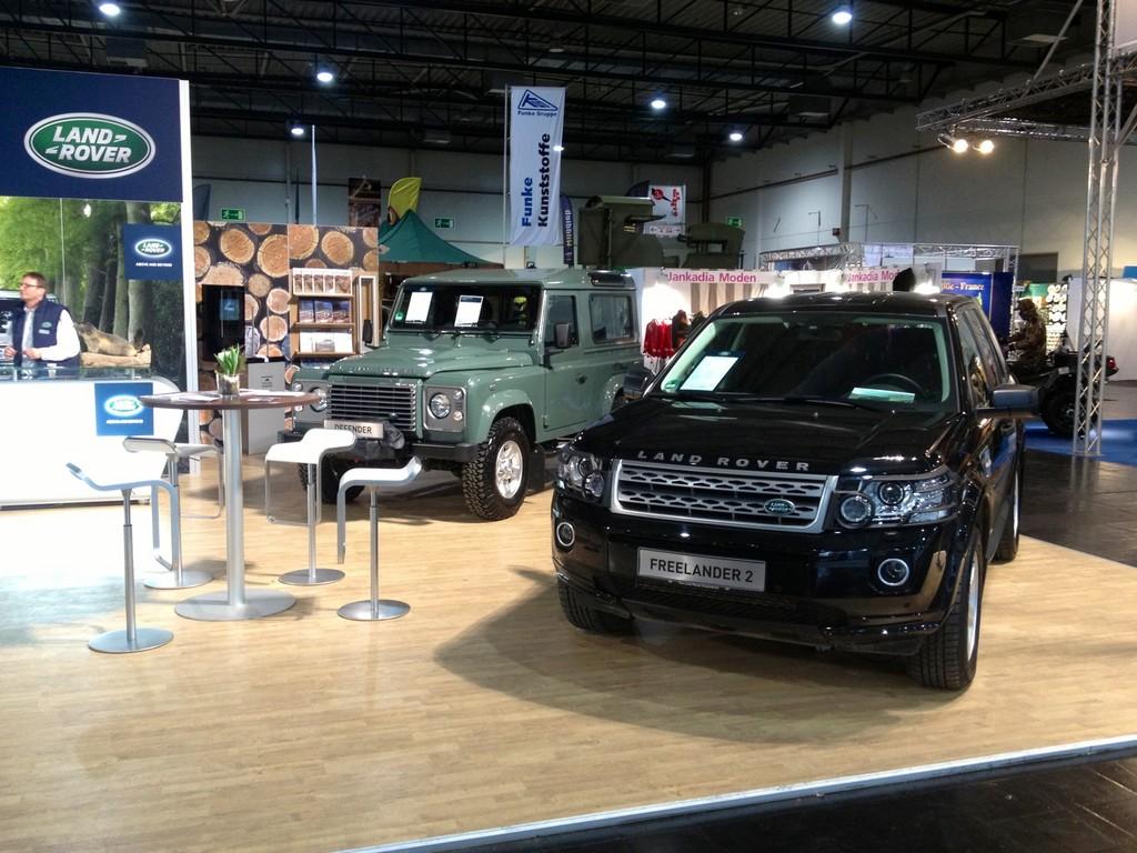 Land Rover mit Zubehör auf der