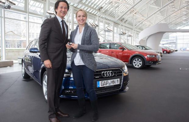 Magdalena Neuner fährt Audi A4 Avant