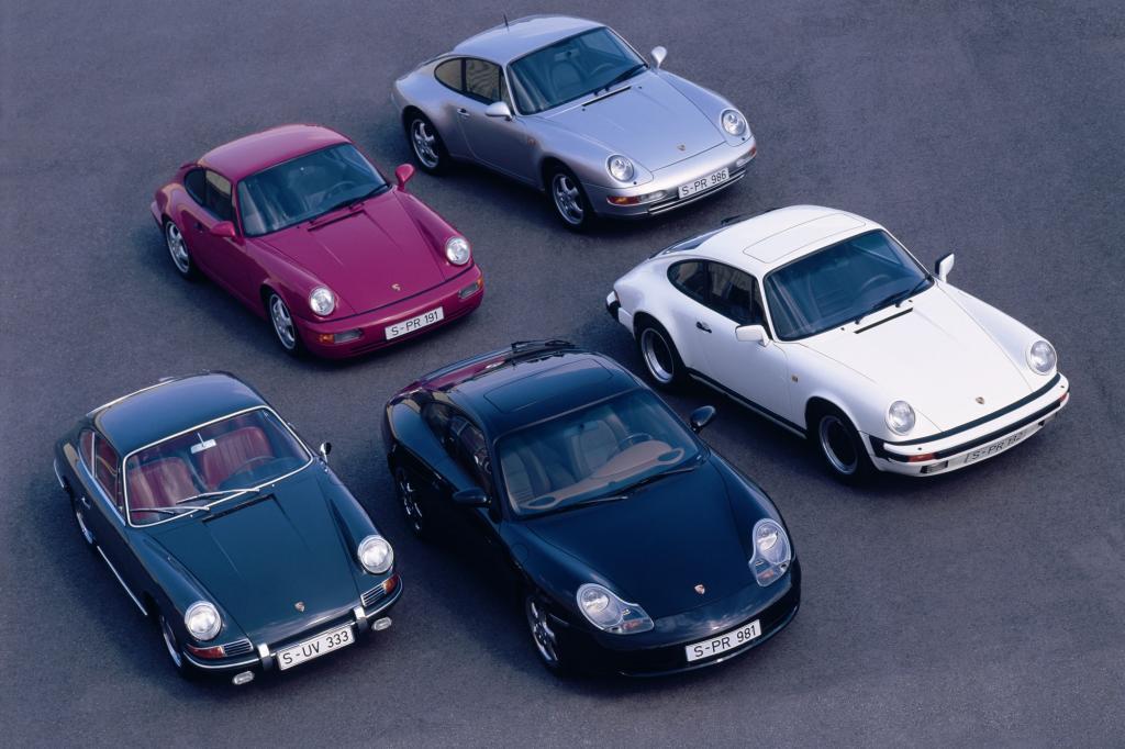 Porsche 911 Generationentreffen 1 bis 5
