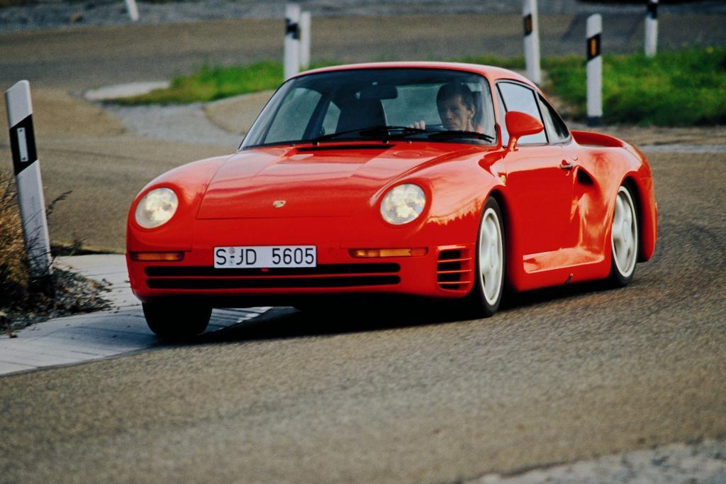 Porsche 959 mit Walter Roehr 1986