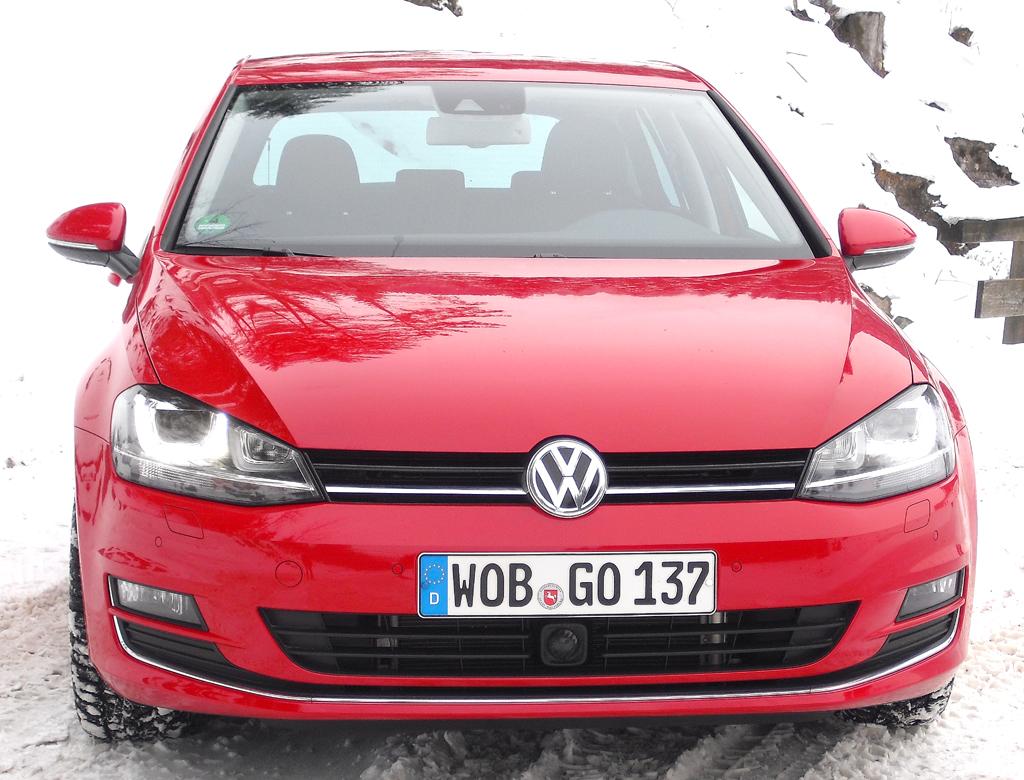 VW Golf 4Motion: Blick auf die Frontpartie.