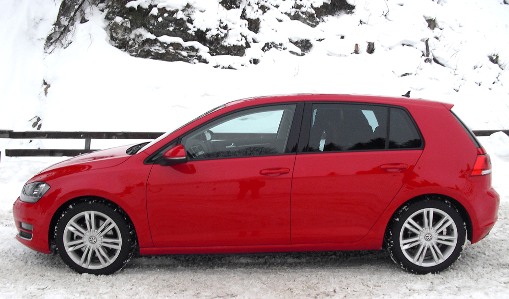 VW Golf 4Motion: Und so sieht die Neuauflage des Allrad-Golfs von der Seite aus.
