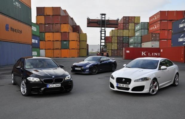 Vergleich BMW M5, Jaguar XF-R und Nissan GT-R - Wehe wenn sie losgelassen