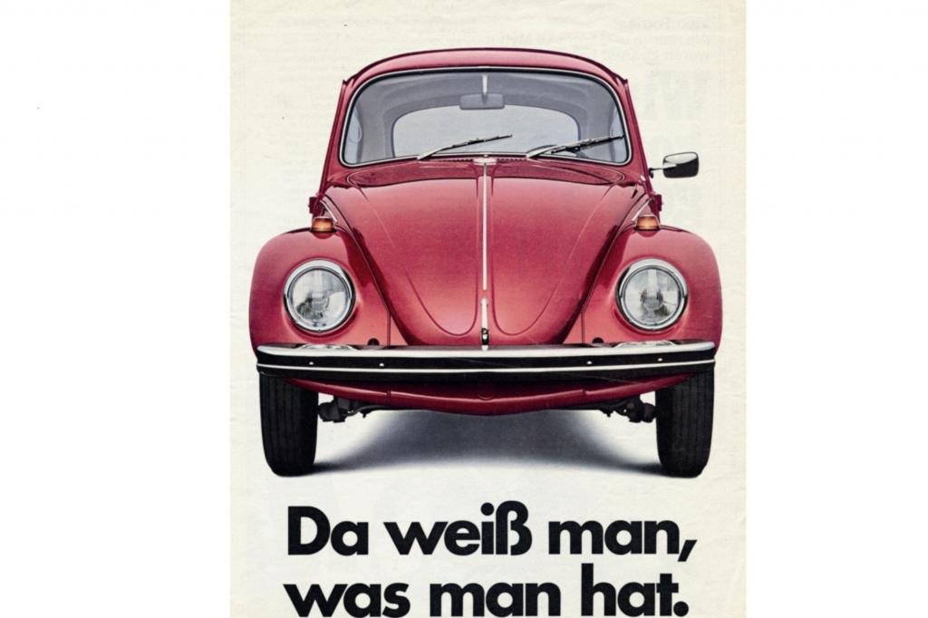 Volkswagen Kaefer Werbung