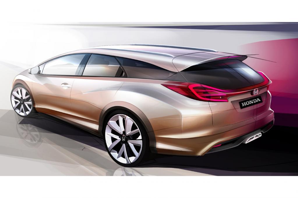 Die Studie des Honda Civic Wagon weist einen seriennahen Zustand auf.