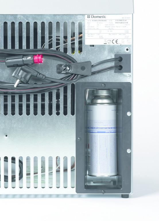 Dometic RC 1205 GC kühlt auch mit Gaskartusche