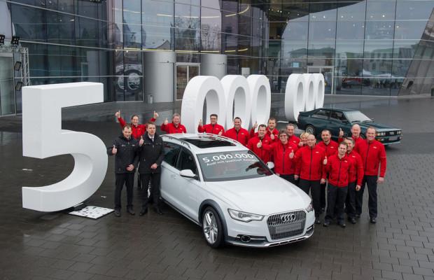 Fünfmillionster Quattro in Neckarsulm produziert
