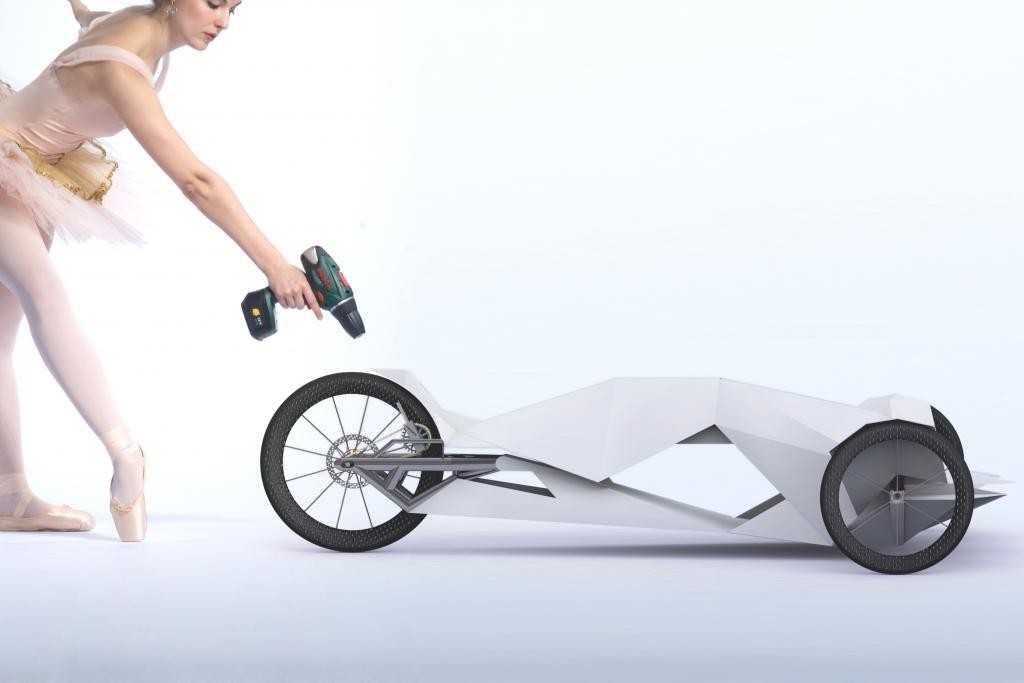 Federleichte Fahrzeuge mit Akkuschrauber-Antrieb
