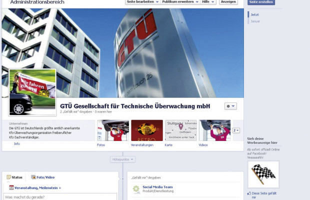 GTÜ bei Facebook