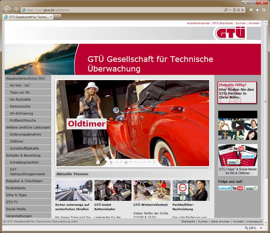 GTÜ richtet Autofahrerportal ein