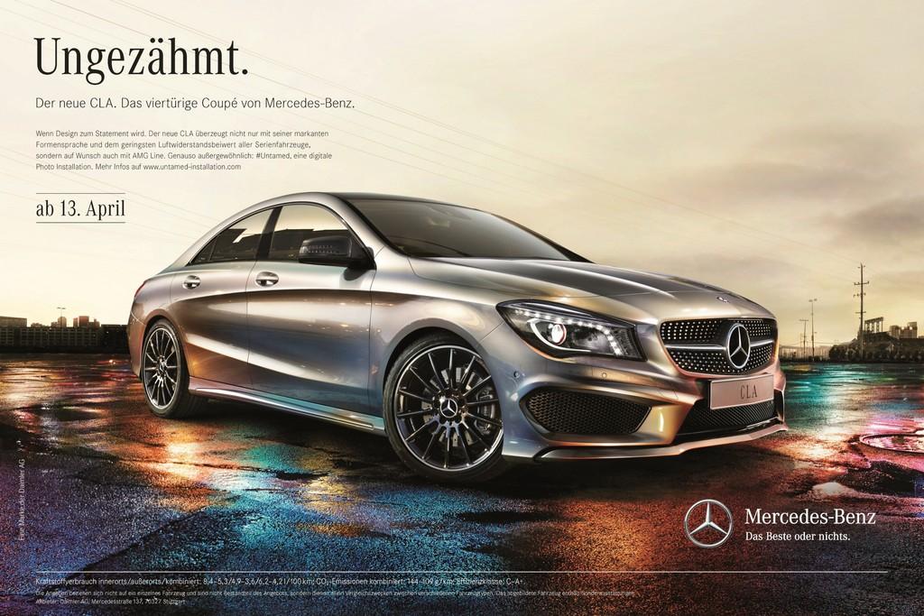 Mercedes-Benz startet CLA-Werbekampagne: Ungezähmt