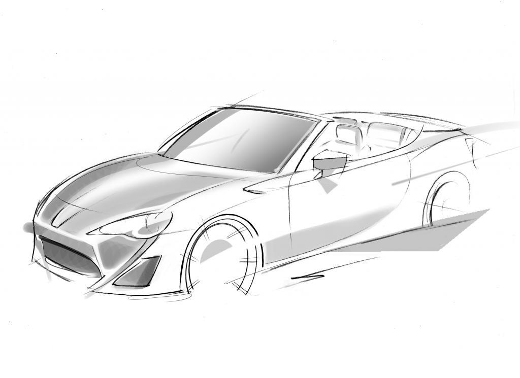 Mit der Studie des offenen GT86 will Toyota die Publikums-Reaktion auf eine Cabrio-Version des heckgetriebenen Sportcoupés GT86 testen.