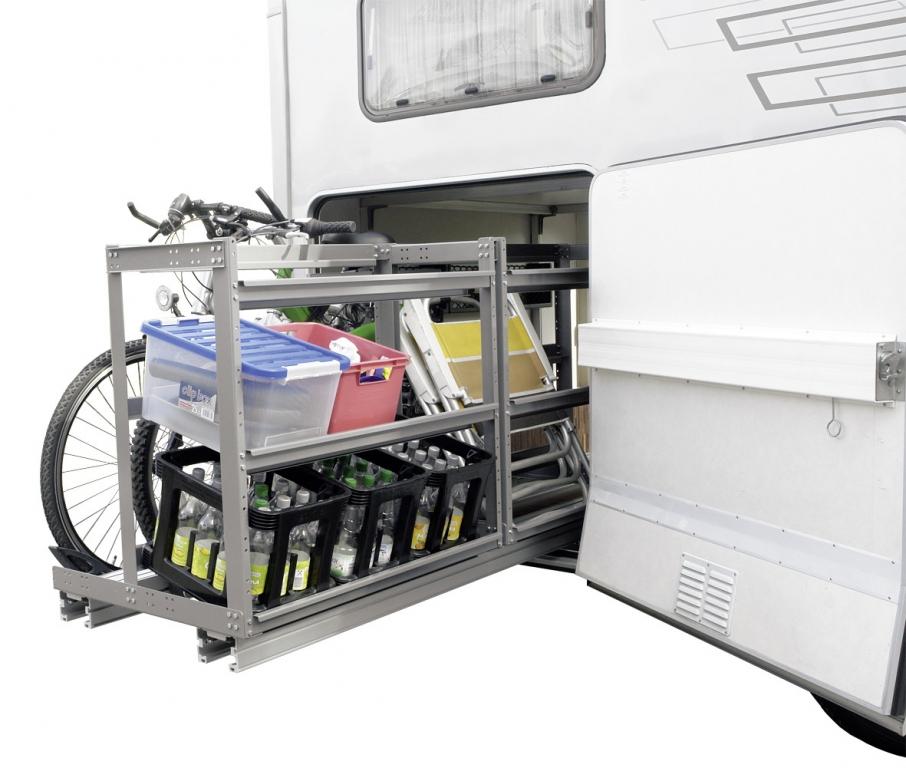 movera load move regal system f r reisemobil heckgarage. Black Bedroom Furniture Sets. Home Design Ideas