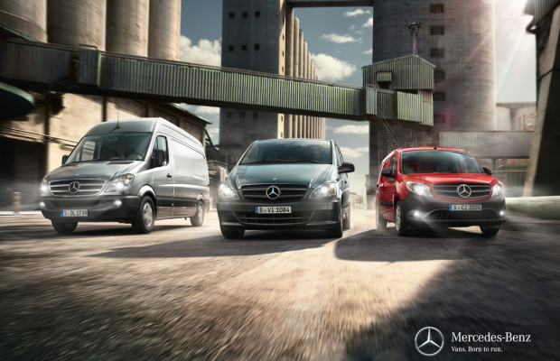 Neuer Markenclaim für Transporter von Mercedes-Benz