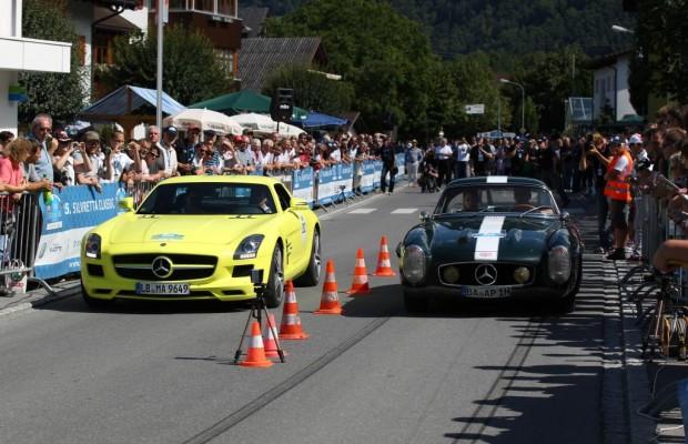 Oldtimer und E-Autos starten bei der Silvretta Rallye