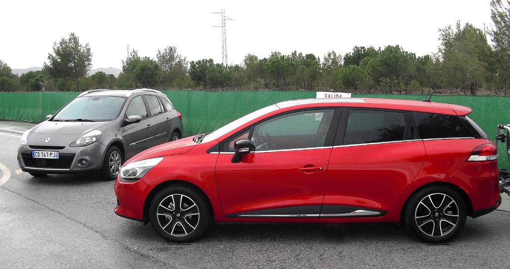 Renault Clio Grandtour: So sieht der neue Kombi (links das Vorgängermodell) von der Seite aus.