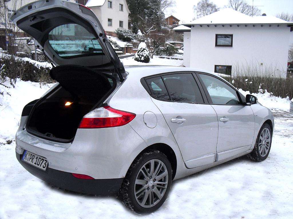 Renault Mégane: Das Gepäckabteil fasst 405 bis 1162 Liter.
