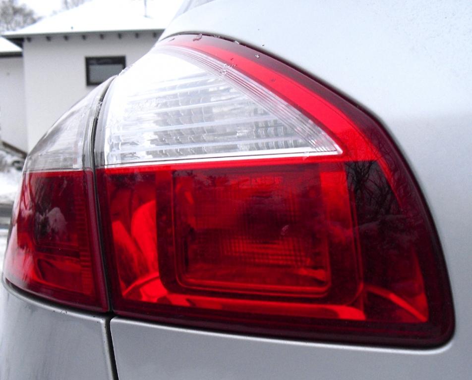 Renault Mégane: Großformatige Leuchteinheit am Heck.