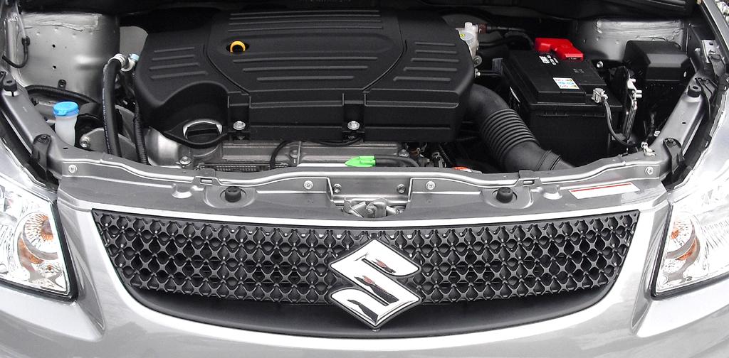 Suzuki SX4: Blick unter die Haube auf den 1,6-Liter mit 88/120 kW/PS.
