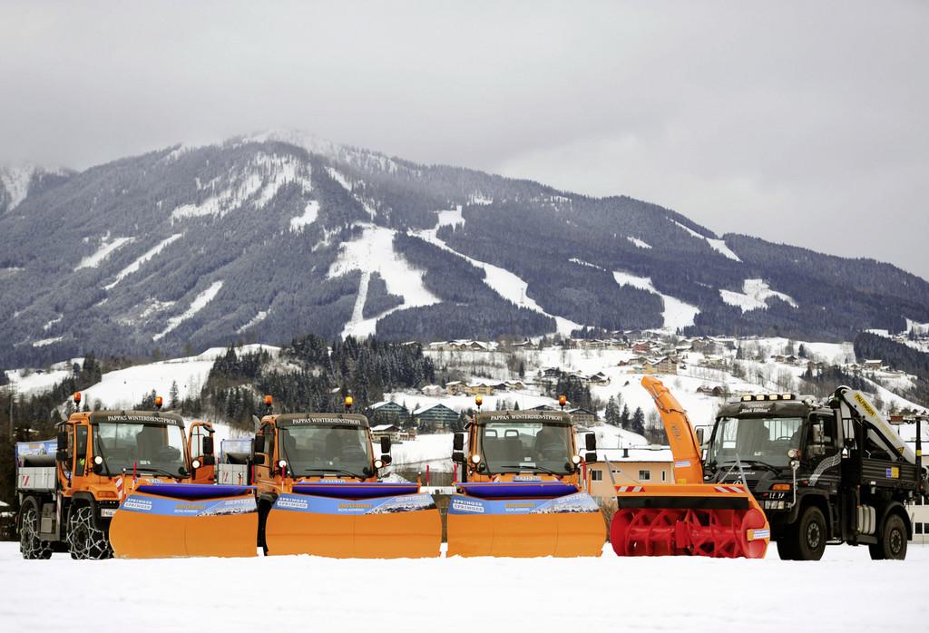 Unimog-Winterdienst bei der Ski-WM